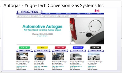 Home page for an autogas fitter